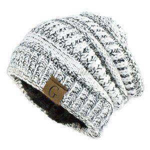 Winter Hat Ski Fleece Slouchy Cap